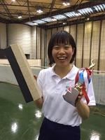 4年藤原が春リーグ、3部でサーブ賞を頂きました!